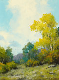 Texas:Early Texas Art - Regionalists, A. D. GREER (American, 1904-1998). Early Spring. Oil onboard. 12 x 9 inches (30.5 x 22.9 cm). Signed lower right:A....