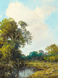 Paintings, A. D. GREER (American, 1904-1998). Summer Day. Oil on board. 12 x 9 inches (30.5 x 22.9 cm). Signed lower right: A.D....