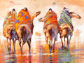 Paintings, B.C. NOWLIN (American, b. 1949). Native Americans on Horseback, 2001. Oil on canvas. 36 x 48 inches (91.4 x 121.9 cm). S...