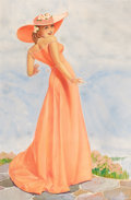 Pin-up and Glamour Art, GEORGE PETTY (American, 1894-1975). Spring Beauty, cigarette adillustration. Gouache on board. 43.5 x 30 in.. Signed lo...(Total: 2 Items)