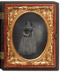 Photography:Ambrotypes, Ninth Plate Ambrotype: Twenty-Five Year Old Female, Circa 1861. ...