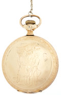 """Political:3D & Other Display (1896-present), American Socialists: Gold Pocket Watch Presented by Appeal toReason for """"Faithful Service in the Struggle for Soc..."""