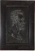 Political:Miscellaneous Political, Abraham Lincoln: High-Relief Bronze Finished Portrait Plaque of Abraham Lincoln....