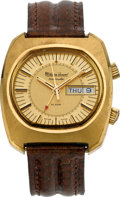 Timepieces:Wristwatch, Lucien Piccard Automatic Wrist Alarm With Original Box, circa 1971. ...