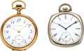 Timepieces:Pocket (post 1900), Elgin, Waltham, Two 14k 12 Size Pocket Watches. ... (Total: 2Items)