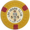 Miscellaneous:Gaming Chips, Las Vegas Club $5 Casino Chip, Ninth Issue, R-8, Circa 1950s. ...