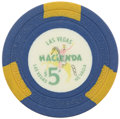Miscellaneous:Gaming Chips, Hacienda $5 Las Vegas Casino Chip, First Issue, R-9, Circa 1956....