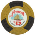 Miscellaneous:Gaming Chips, Fremont $5 Las Vegas Casino Chip, Second Issue, R-7, Circa 1962....