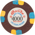Miscellaneous:Gaming Chips, Sands $1000 Las Vegas Baccarat Chip, Sixteenth Issue, R-9, Circa1980s....