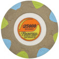 Miscellaneous:Gaming Chips, Frontier $25,000 Las Vegas Baccarat Chip, Sixth Issue, Circa1990s....