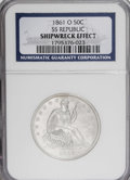 Seated Half Dollars, 1861-O 50C --Shipwreck Effect--NGC....