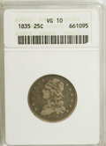 Bust Quarters: , 1835 25C VG10 ANACS. NGC Census: (0/314). PCGS Population (3/286).Mintage: 1,952,000. Numismedia Wsl. Price for NGC/PCGS ...
