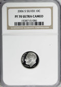 Proof Roosevelt Dimes: , 2006-S 10C Silver PR70 Deep Cameo NGC. PCGS Population (37/0).(#95317)...