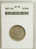 Seated Quarters: , 1857 25C AU50 ANACS. NGC Census: (8/315). PCGS Population (14/260).Mintage: 9,644,000. Numismedia Wsl. Price for NGC/PCGS...
