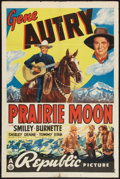 """Movie Posters:Western, Prairie Moon (Republic, 1938). Autographed One Sheet (27"""" X 41""""). Western.. ..."""