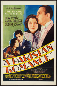"""A Parisian Romance (Allied Pictures, 1932). One Sheet (27"""" X 41"""") Flat Folded. Drama"""