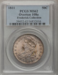 Bust Half Dollars, 1811 50C Small 8 MS62 PCGS....