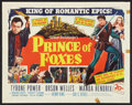 "Movie Posters:Adventure, Prince of Foxes (20th Century Fox, 1949). Half Sheet (22"" X 28""). Adventure.. ..."