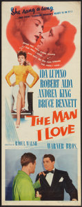 "Movie Posters:Crime, The Man I Love (Warner Brothers, 1947). Insert (14"" X 36""). Crime....."
