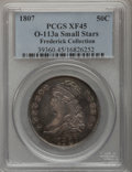 Bust Half Dollars, 1807 50C Capped Bust, Small Stars XF45 PCGS....