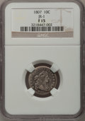 Early Dimes, 1807 10C Fine 15 NGC....