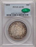 Bust Half Dollars: , 1810 50C AU50 PCGS. CAC. PCGS Population (54/218). NGC Census:(37/244). Mintage: 1,276,276. Numismedia Wsl. Price for prob...
