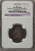 Bust Quarters, 1822 25C --Improperly Cleaned, Scratched--NGC. AU Details....