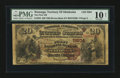 National Bank Notes:Oklahoma, Watonga, OT - $20 1882 Brown Back Fr. 504 The First NB Ch. # (W)5804. ...