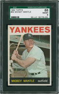 Baseball Cards:Singles (1960-1969), 1964 Topps Mickey Mantle #50 SGC 88 NM/MT 8....