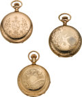 Timepieces:Pocket (post 1900), Three American Hunters Case Pocket Watches, circa 1890 to 1910. ... (Total: 3 Items)