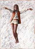 Pin-up and Glamour Art, VICTOR LIVOTI (American, 20th Century). Queenie. Oil onboard. 30 x 22 in.. Not signed. ...