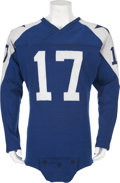 Football Collectibles:Uniforms, 1960 Don Meredith Game Worn Dallas Cowboys Rookie Uniform....