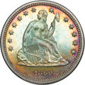 Proof Seated Quarters, 1860 Seated Quarter PR65 NGC....