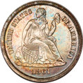 Proof Seated Dimes, 1861 Seated Dime PR63 NGC....