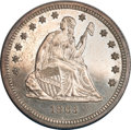 Proof Seated Quarters, 1863 Seated Quarter PR63 NGC....