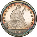 Proof Seated Quarters, 1885 Seated Quarter PR63 NGC....