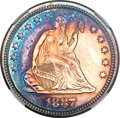 Proof Seated Quarters, 1887 Seated Quarter PR63 NGC....