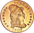 Early Half Eagles, 1803/2 $5 MS62 NGC. CAC....