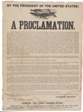 Political:Posters & Broadsides (pre-1896), Abraham Lincoln: Important Printing of the Preliminary Emancipation Proclamation....