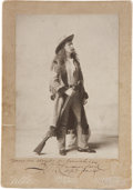 "Photography:Studio Portraits, John Wallace ""Captain Jack"" Crawford Signed Photograph...."