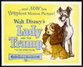 "Movie Posters:Animated, Lady and the Tramp (Buena Vista, 1955). Half Sheet (22"" X 28"").Animated.. ..."