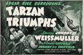 Memorabilia:Poster, Tarzan Triumphs Press Book (RKO, 1943)....