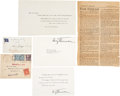 Autographs:U.S. Presidents, Harry S Truman: Most Interesting Grouping.... (Total: 6 Items)