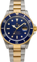 Timepieces:Wristwatch, Rolex Ref. 16613 Steel & Gold Submariner, circa 2000. ...