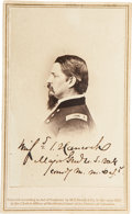 Autographs:Military Figures, Winfield Scott Hancock: Signed Carte de Visite....
