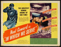 "Movie Posters:War, In Which We Serve (United Artists, 1942). Half Sheet (22"" X 28"").War.. ..."