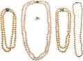 Estate Jewelry:Lots, Lot of Cultured Pearl, Rose Quartz, Gold, Sterling Silver Jewelry. ...