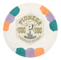 Miscellaneous:Gaming Chips, Pioneer $500 Laughlin, Nevada Casino Chip, Second Issue, R-9....