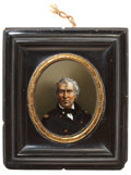 Political:Small Miscellaneous (pre-1896), Zachary Taylor: Exceptionally Choice Reverse on Glass Image. ...