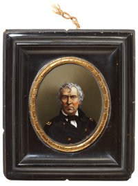 Zachary Taylor: Exceptionally Choice Reverse on Glass Image